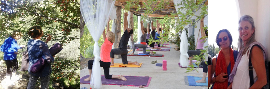 Hatha Yoga in the mountains at Las Chimeneas with Carrie Rodd